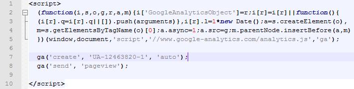 exemple tag google analytics