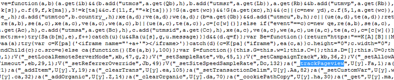 librairie javascript google analytics