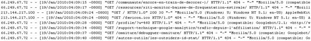 fichier extract de log