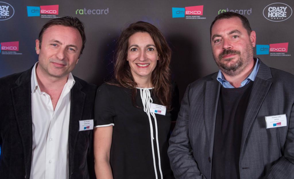 Marc Rouanet de Sublime Skinz et Carole Ellouk de Adventori + Alexandre Canu de AOL Platforms