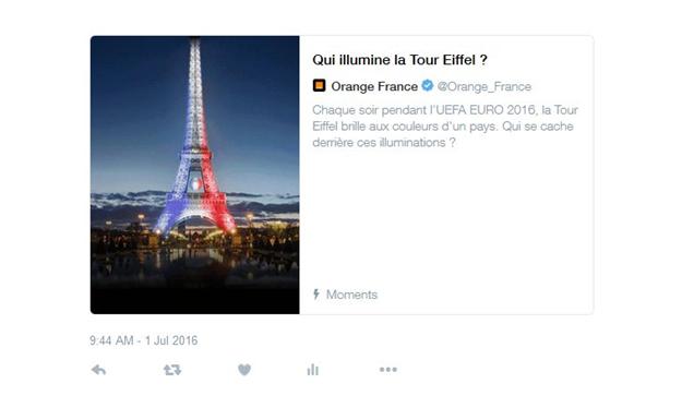 Promoted moment Orange Twitter