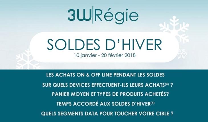 infographie soldes d'hiver 2018 de 3W Régie