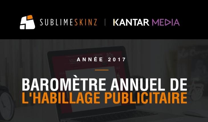 Sublime Skinz et Kantar Media, Barometre Habillage
