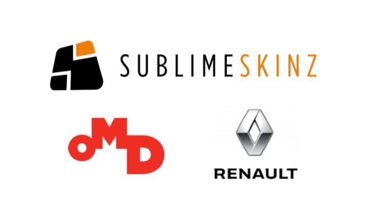 Sublime Skinz et OMD pour Renault