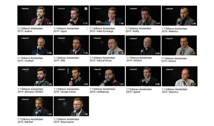 Interviews vidéo des Rencontres Editeurs Amsterdam 2019