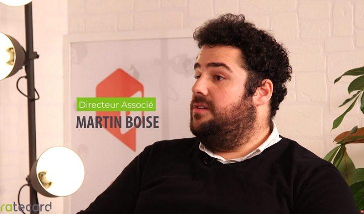Martin Boise, Directeur Associé de Ratecard