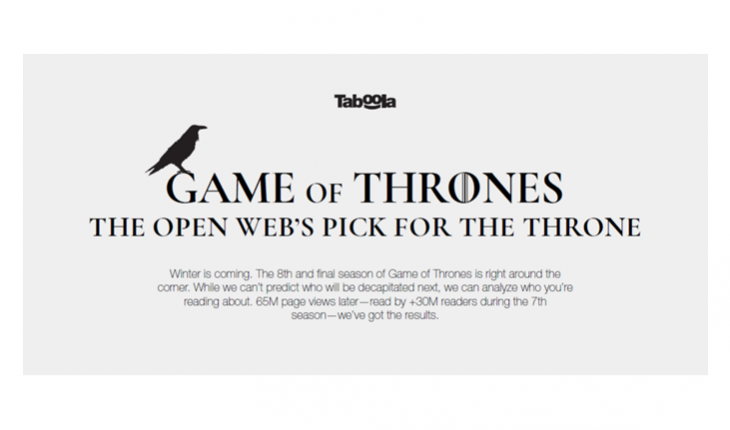Taboola Game of Thrones